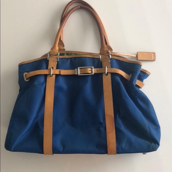 Tumi Bags Bag Reversible Blue And Green Plaid Poshmark